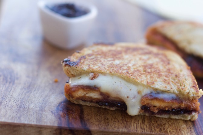 How to Cook Grilled Cheese with Chicken from Spinach Tiger