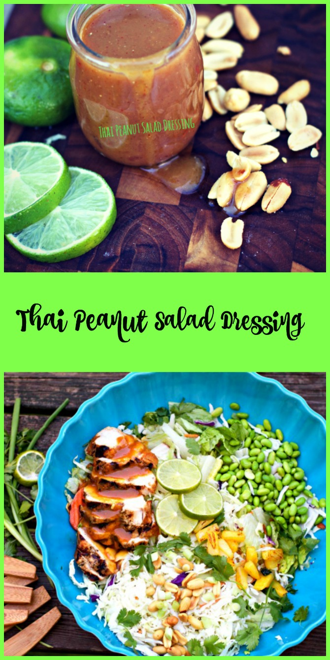 Homemade Thai Peanut Salad Dressing from Spinach Tiger