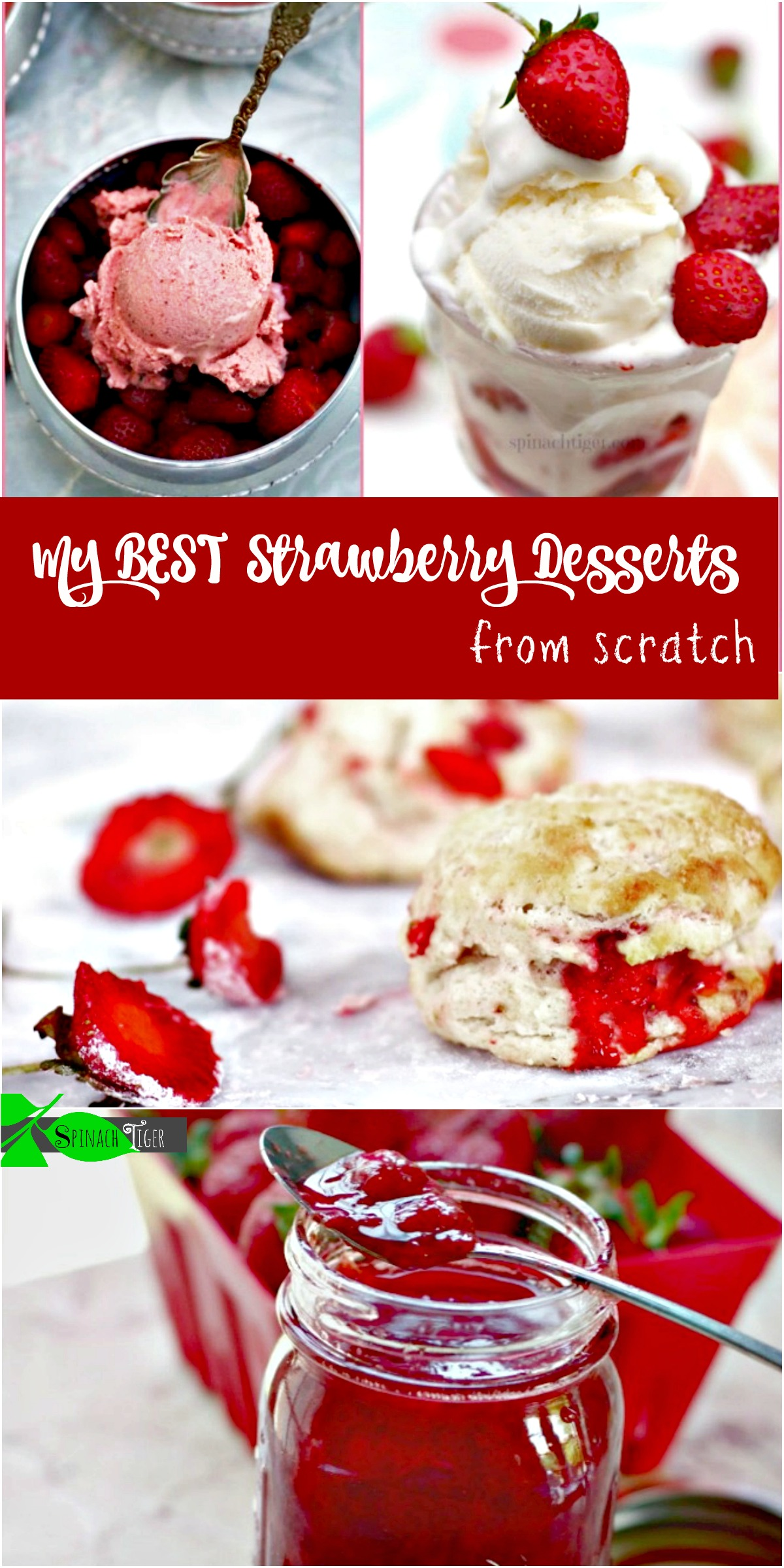fresh strawberry dessert recipes from scratch from Spinach Tiger