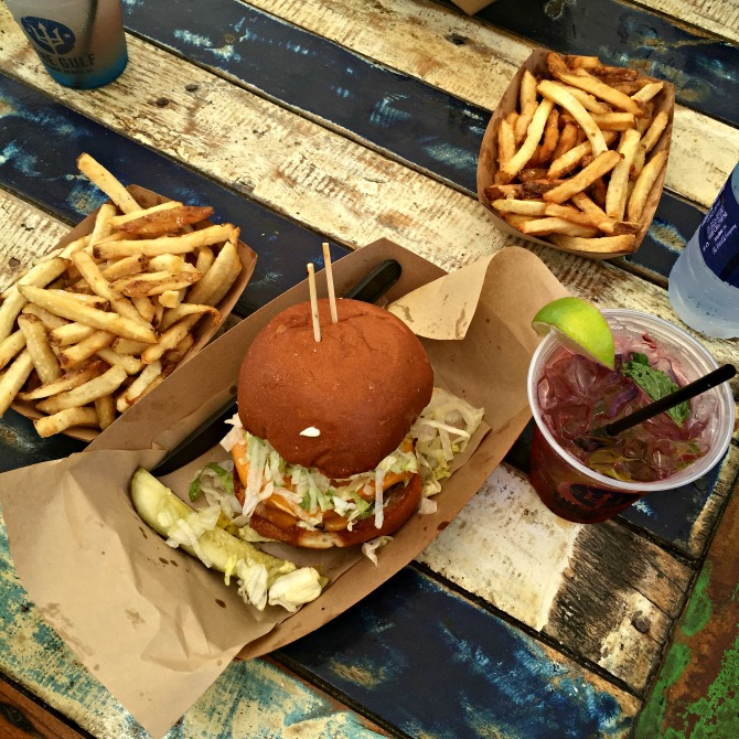 Burgers at the The Gulf, a place to eat in Orange Beach