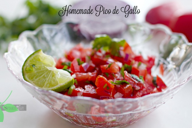 How to Make Homemade Pico de Gallo from spinach tiger