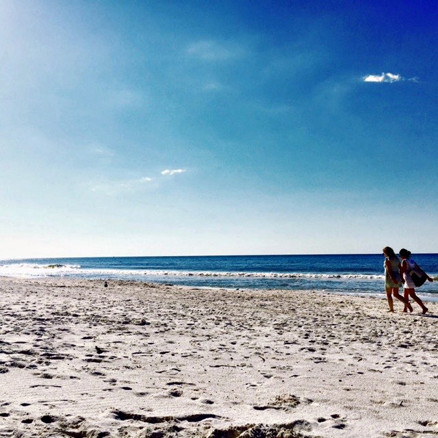 Beach walk on Alabama Beaches by Angela Roberts