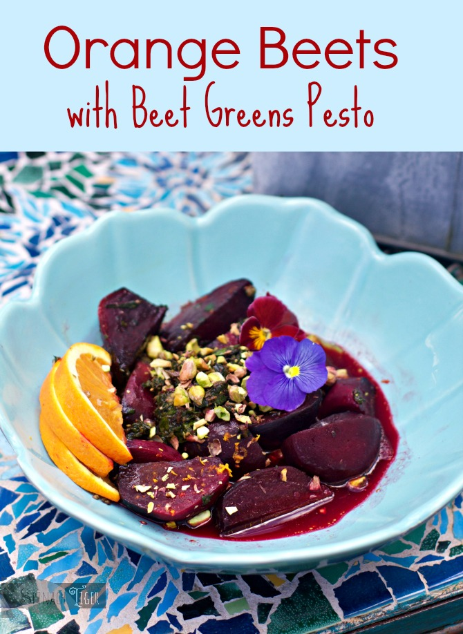 Orange Beets with Beet Greens