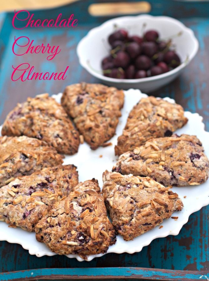 Chocolate Cherry Almond Scones by Angela Roberts