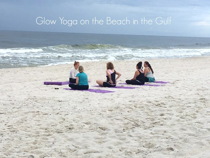Glow Yoga on Alabama Beaches by Angela Roberts