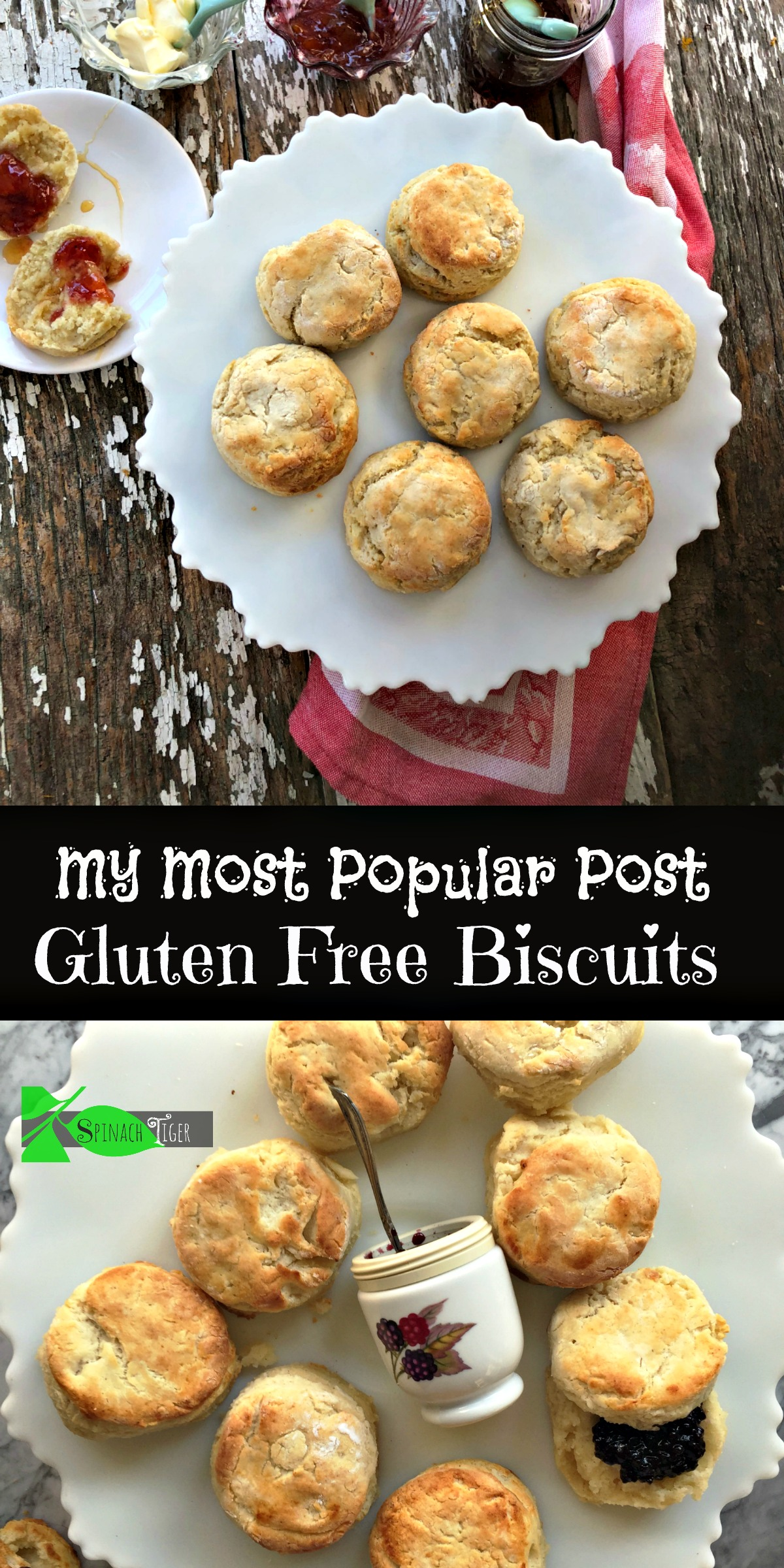 The Very Best Gluten Free biscuit recipe from Spinach Tiger