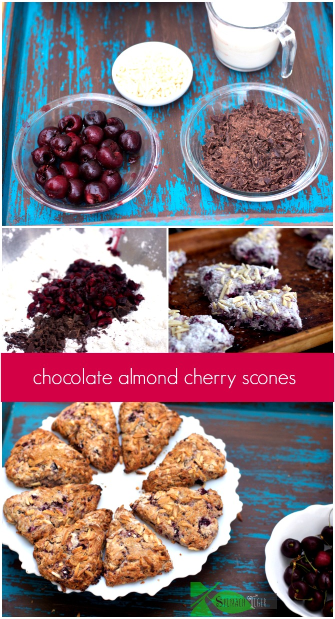 How to Make Chocolate Cherry Almond Scones by Angela Roberts