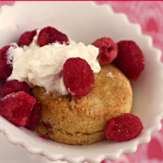 Lemon Ginger Gluten Free Shortcake Biscuits