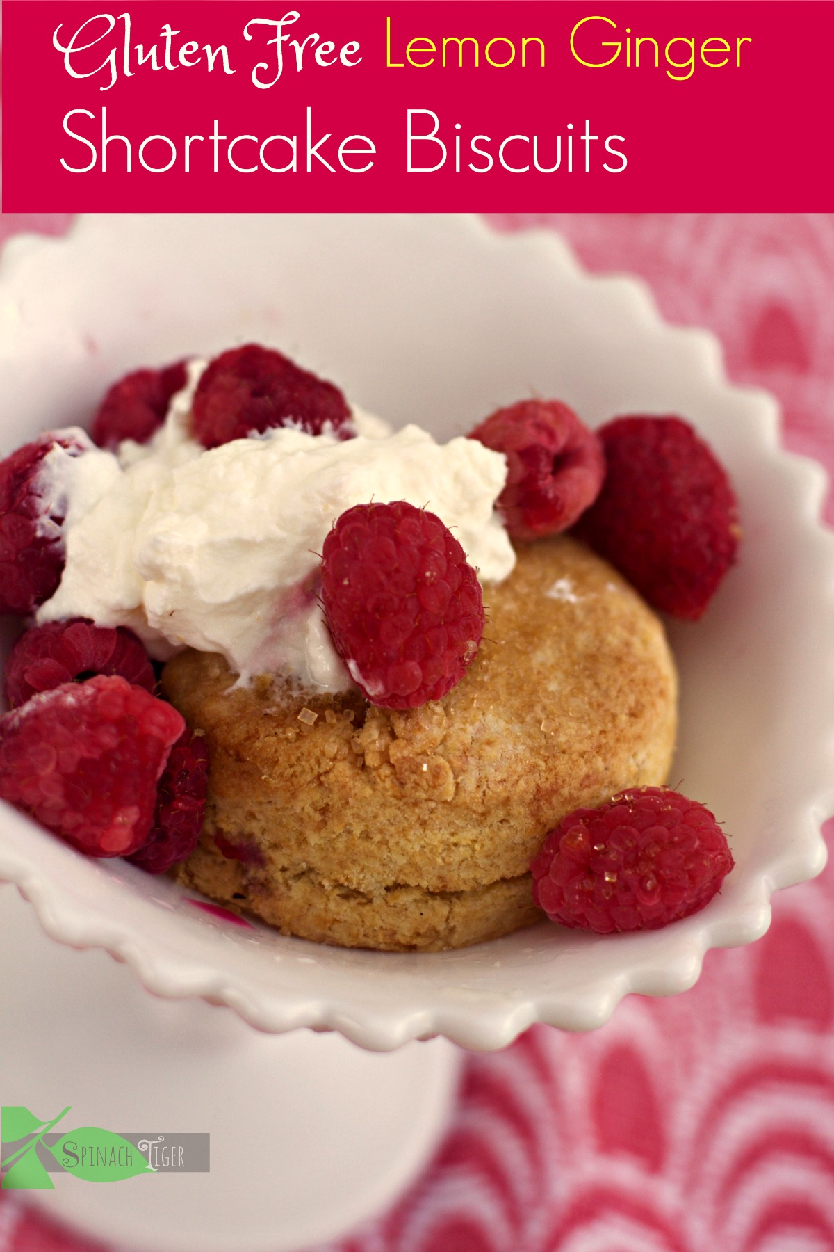 Lemon Ginger Gluten Free Shortcake Biscuits