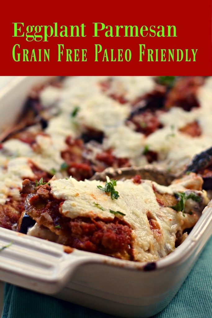 Eggplant Parmesan Grain Free from Spinach Tiger