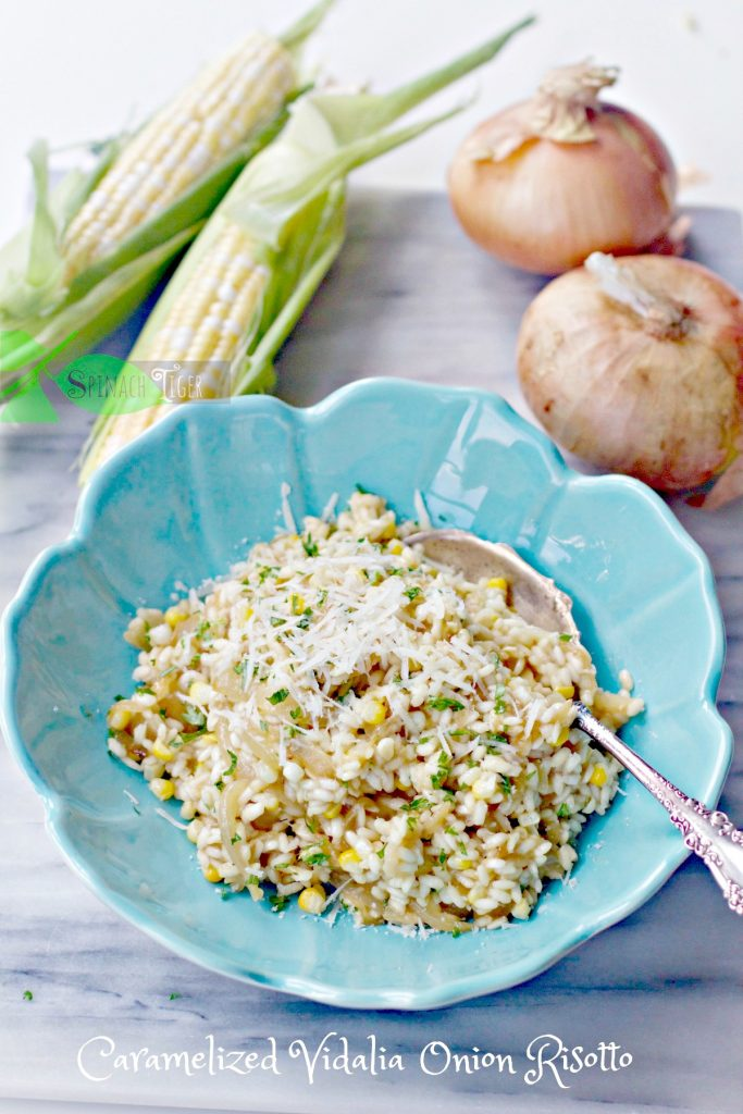 Caramelized Onion Risotto by Spinach TIger