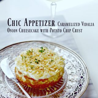 Caramelized Onion Cheesecake Appetizer