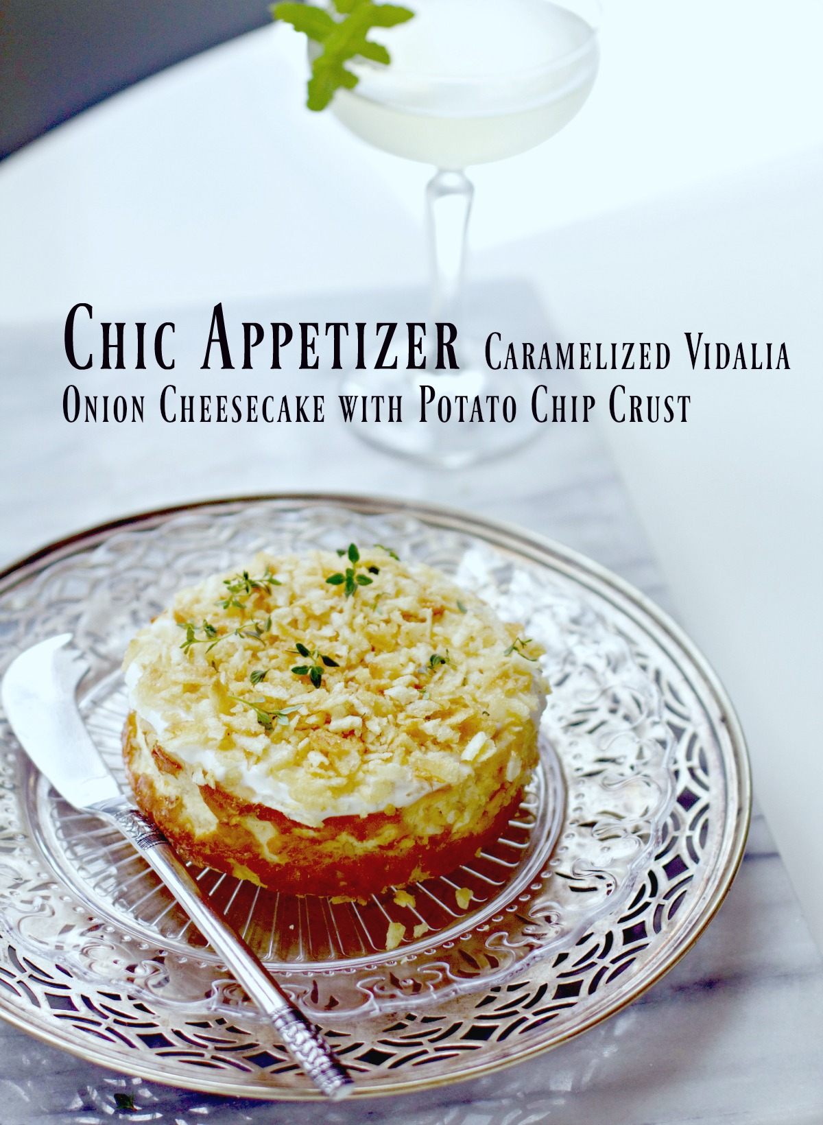 Caramelized Onion Cheesecake Appetizer by Spinach Tiger