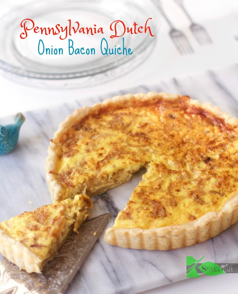 Pennsylvania Dutch Onion Bacon Pie from Spinach Tiger