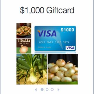 HUGE GIFT CARD GIVEAWAY – $1000