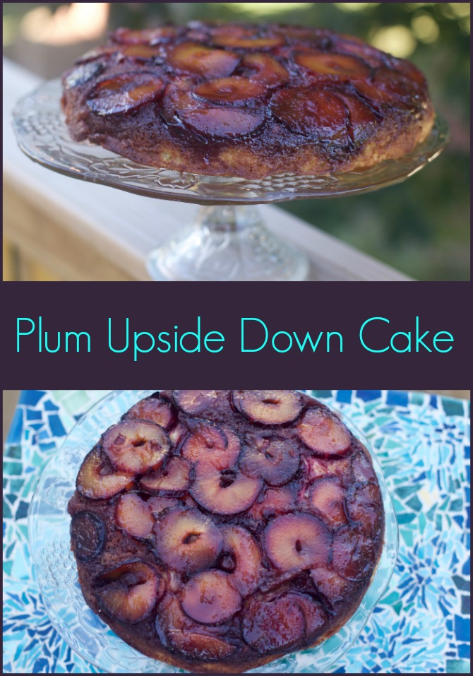 Easy Upside Down Plum Cake Recipe by Spinach Tiger