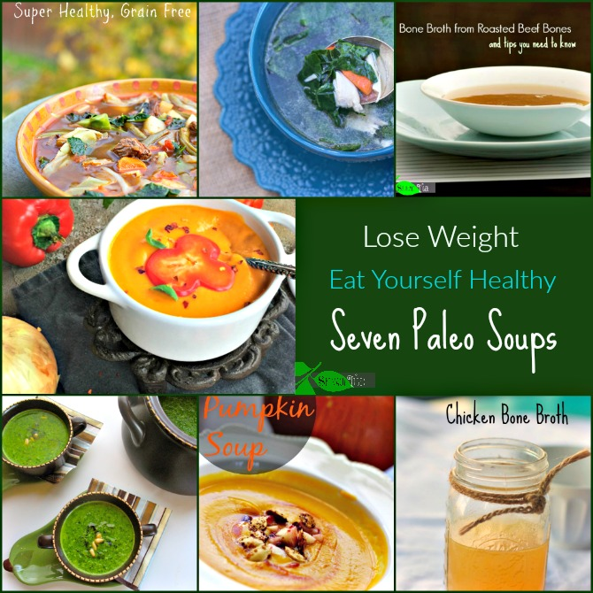Soups that make it easy to lose weight. #paleosoups #healhtysoups #spinachtiger via @angelaroberts