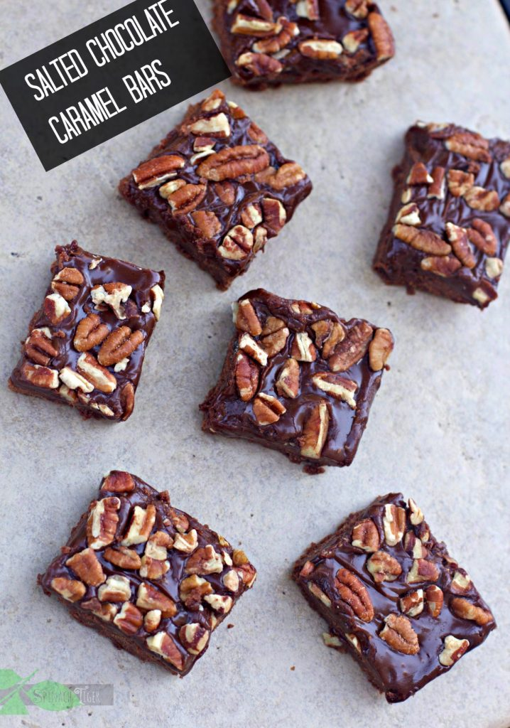 Salted Caramel Chocolate Bars wth video by Spinach Tiger