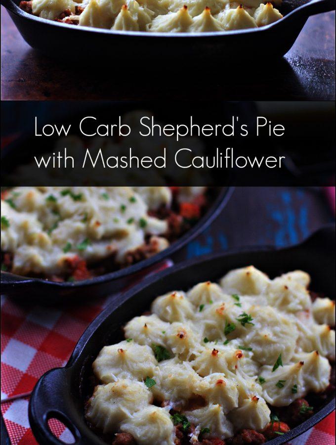 Bolognese Low Carb Shepherd's Pie Cauliflower Mash