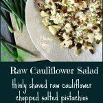 Shaved Cauliflower Salad with Champagne Vinaigrette & Video