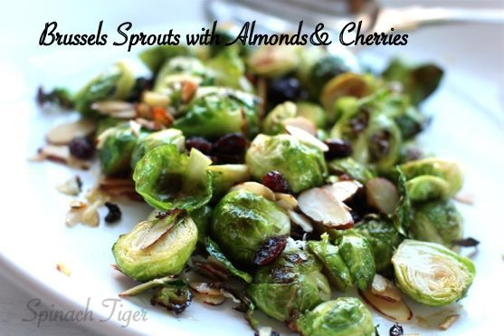 Brussels Sprouts with Almonds, Dried Cherries