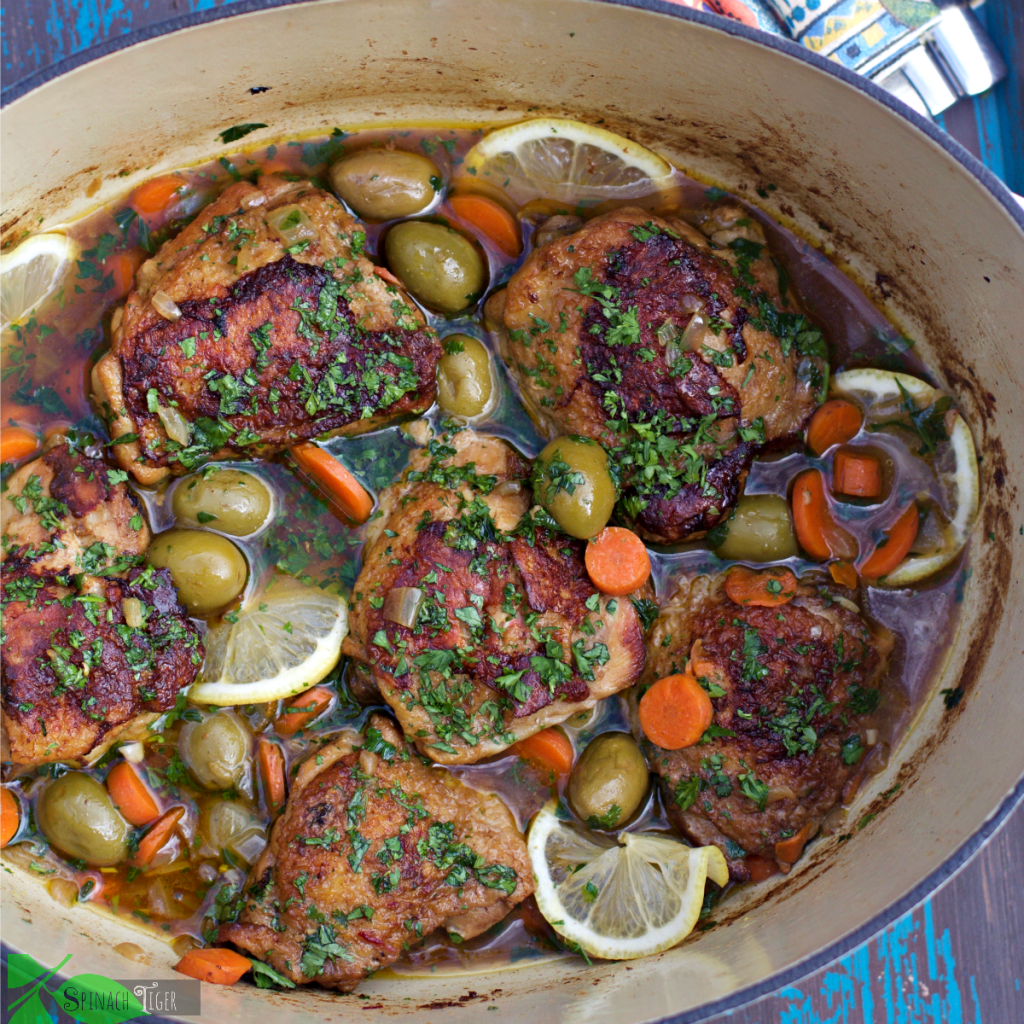 Chicken And Olives Recipe Braised In Lodge Cast Iron Dutch