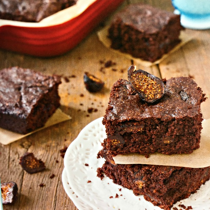Fig Brownies from Mediterranean Paleo Cooking Cookbook Review from Angela Roberts
