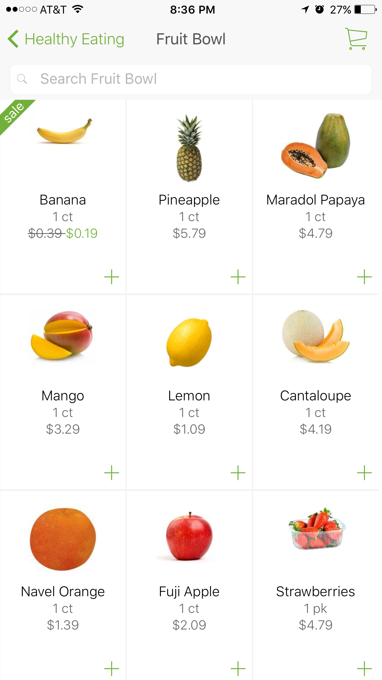 Choosing healthy eating at shipt app for Shipt Grocery Delivery Service by Angela Roberts