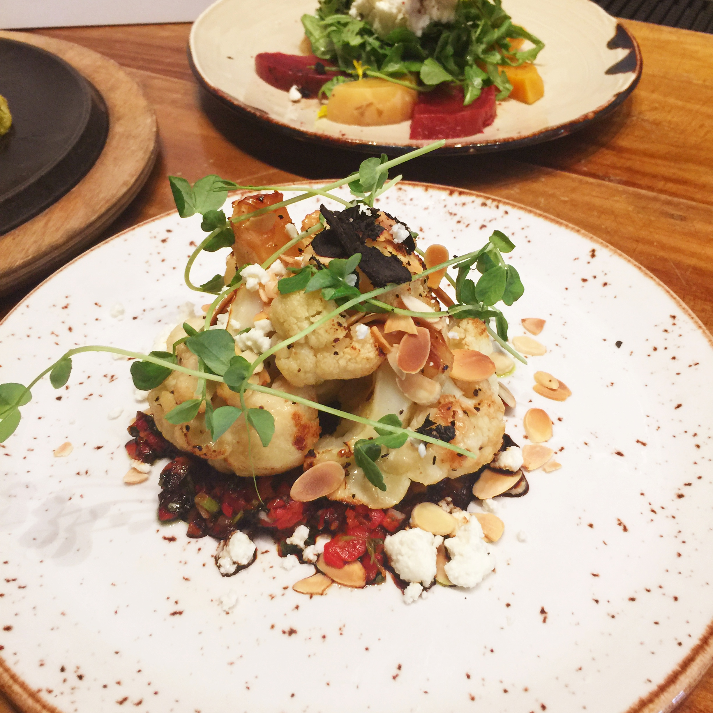 Cauliflower at Honeysuckle Local & Social by Angela Roberts