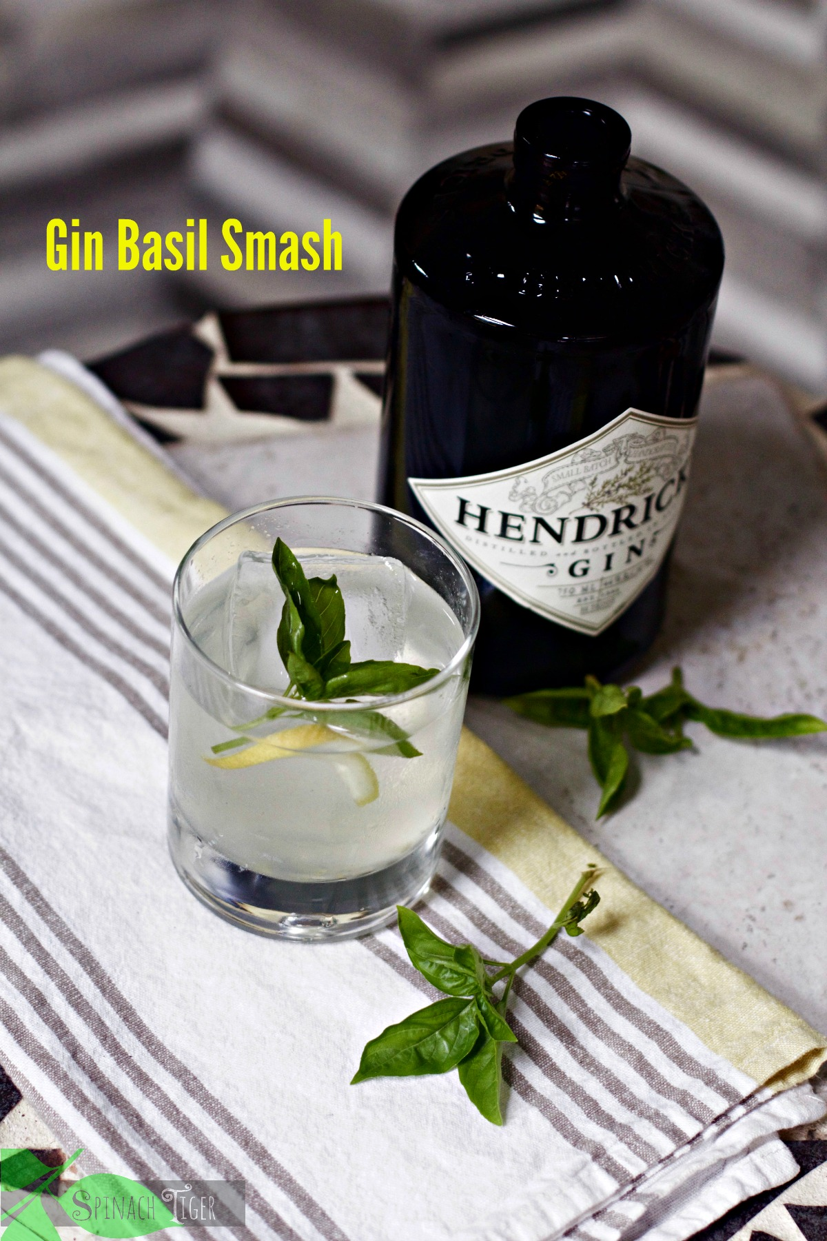 Summer Cocktails: Gin Basil Smash from Spinach Tiger