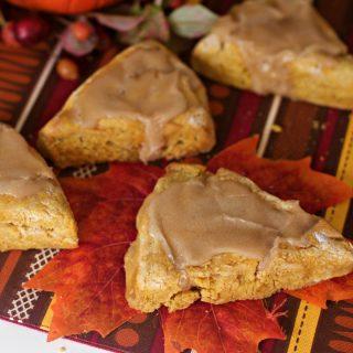 Gluten Free Pumpkin Scones with Maple Glaze