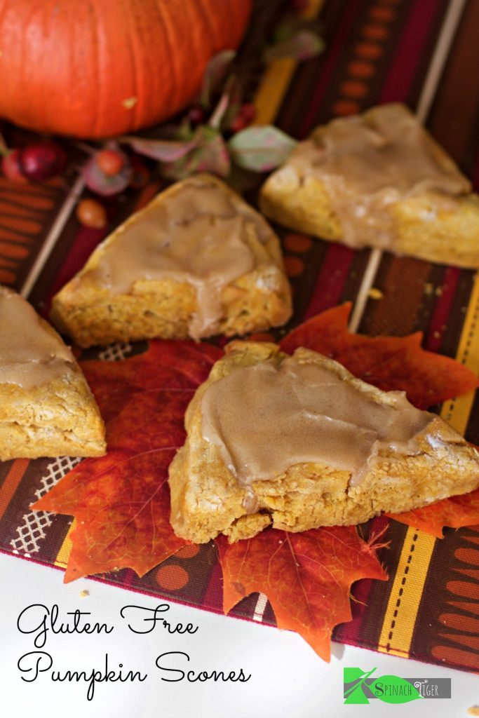 How to Make Gluten Free Pumpkin Scones with Maple Glaze from Spinach TIger