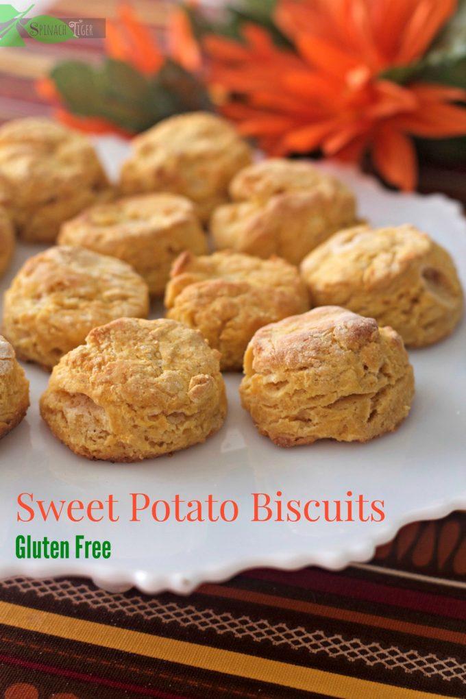 Gluten Free Sweet Potato Biscuits - Spinach Tiger