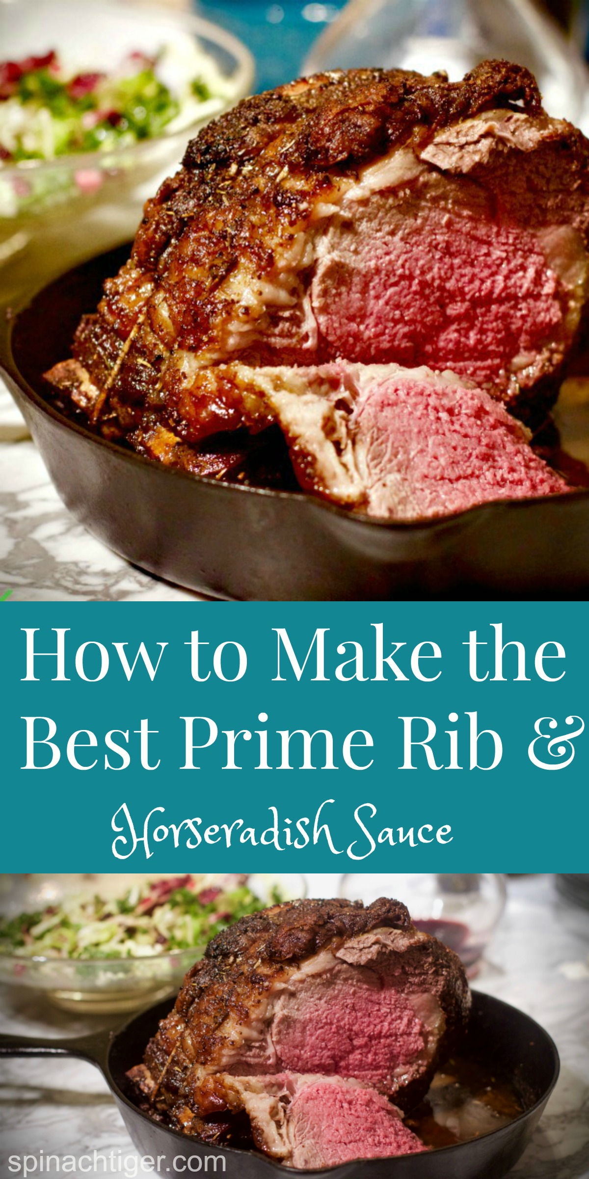 Make the best Prime rib in 2 1/2 hours. First, Dry age in your refrigerator for 7 days. Make Horseradish sauce. #primerib #spinachtiger #dryagemeat #primeribeofbeef #christmasdinner via @angelaroberts
