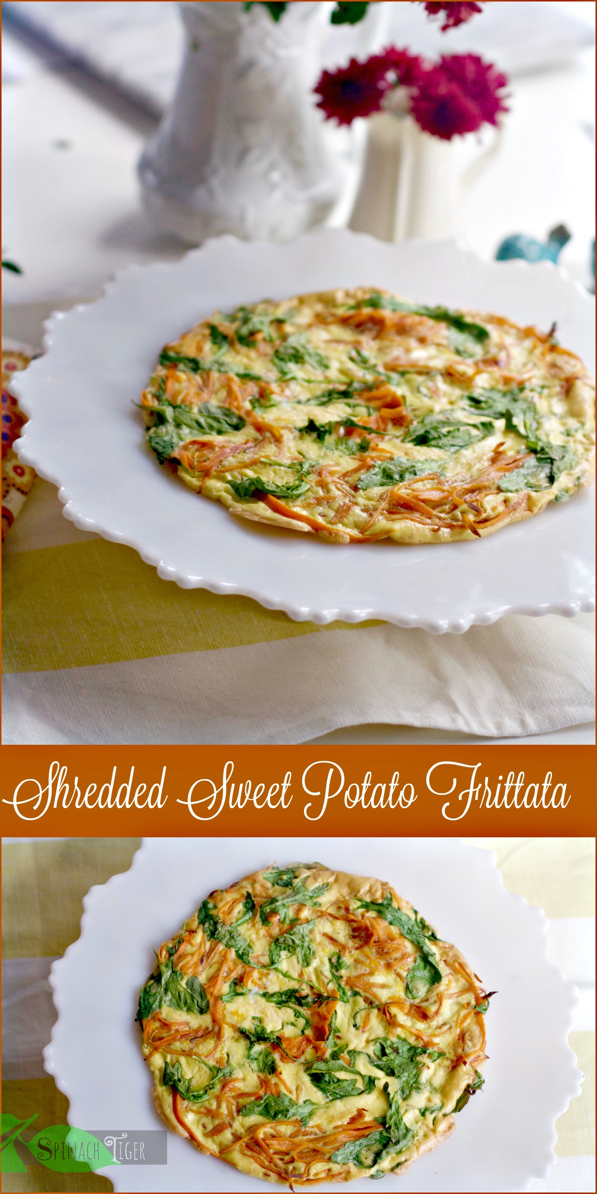 Shredded Sweet Potato Frittata for One by Angela Roberts