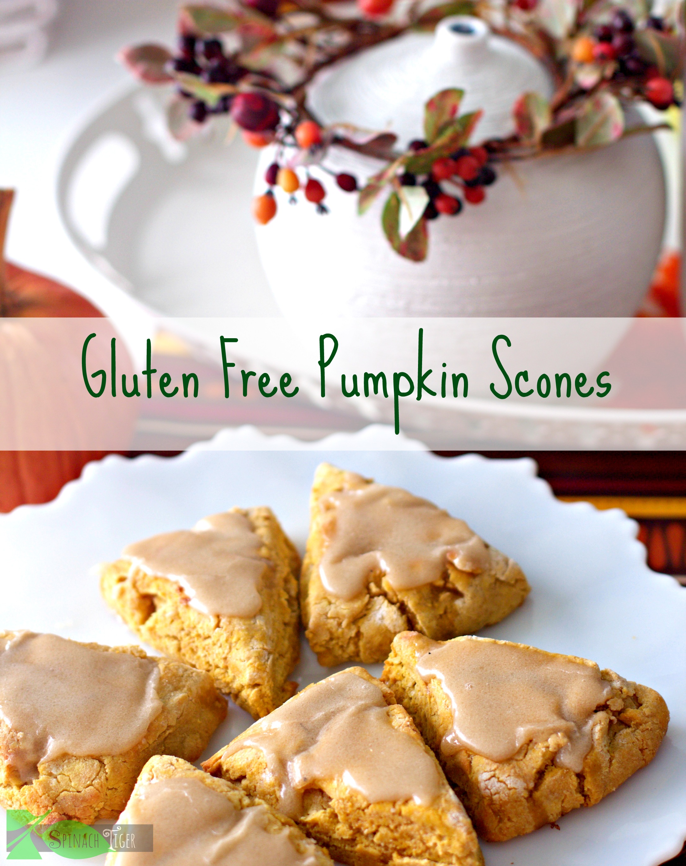 Best Pumpkin Dessert Recipes, Gluten Free Pumpkin Scones from Spinach Tiger