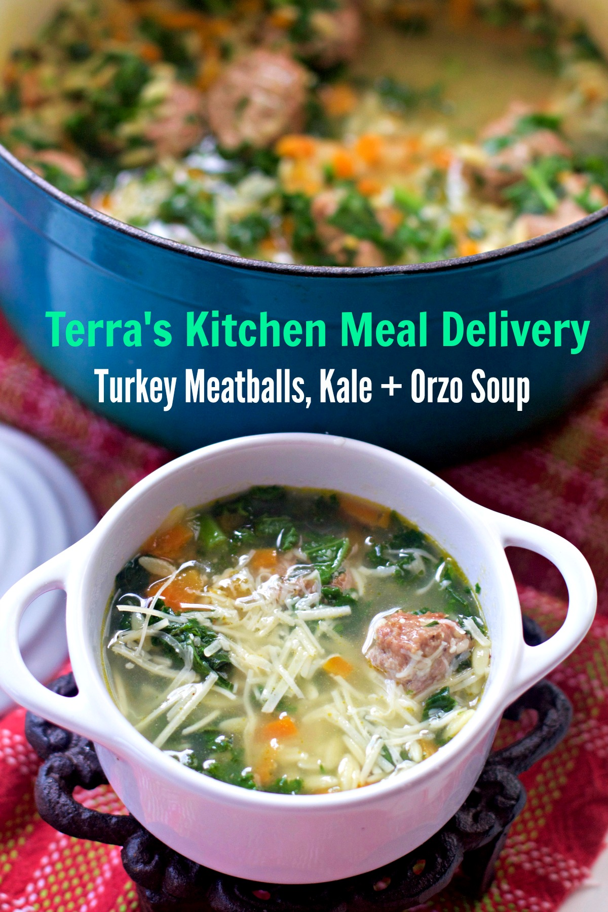 Turkey Meatball Soup from Terra's Kitchen best meal delivery service by Angela Roberts