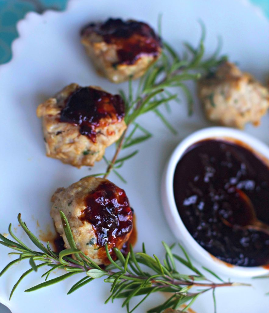 Chicken Meatballs with Blackberry Barbecue Sauce, a Great Appetizer