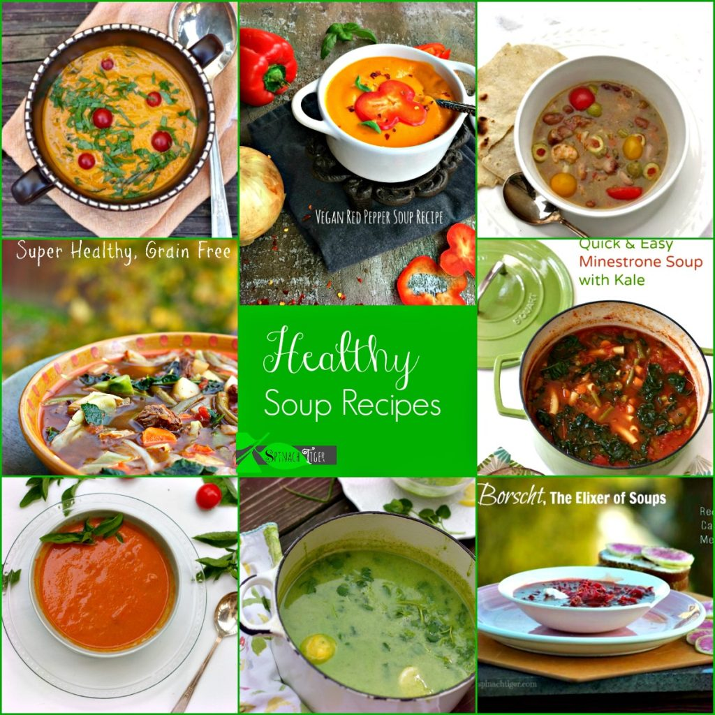 Healthy Soup Recipes, Nutrient Dense from Spinach Tiger