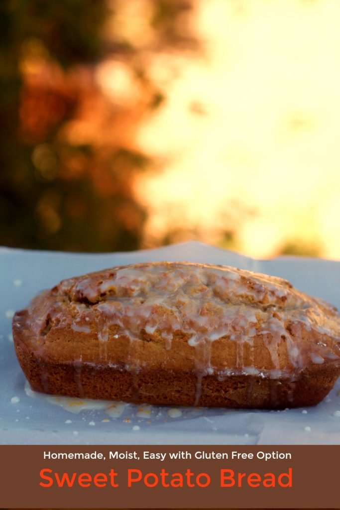 Orange Glaze Sweet Potato Bread Recipe from Spinach Tiger