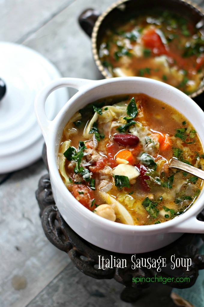 Italian Sausage Soup from My Favorite 2018 Recipes from Spinach Tiger