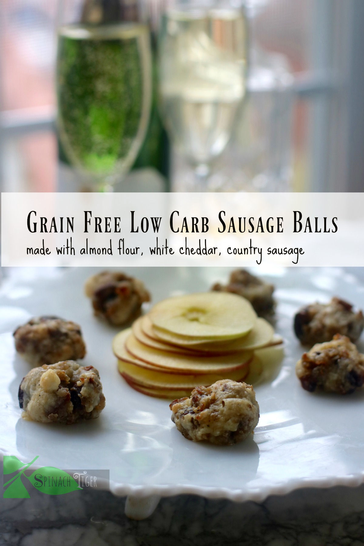 Grain Free Low Carb Easy Sausage Balls from Spinach TIger