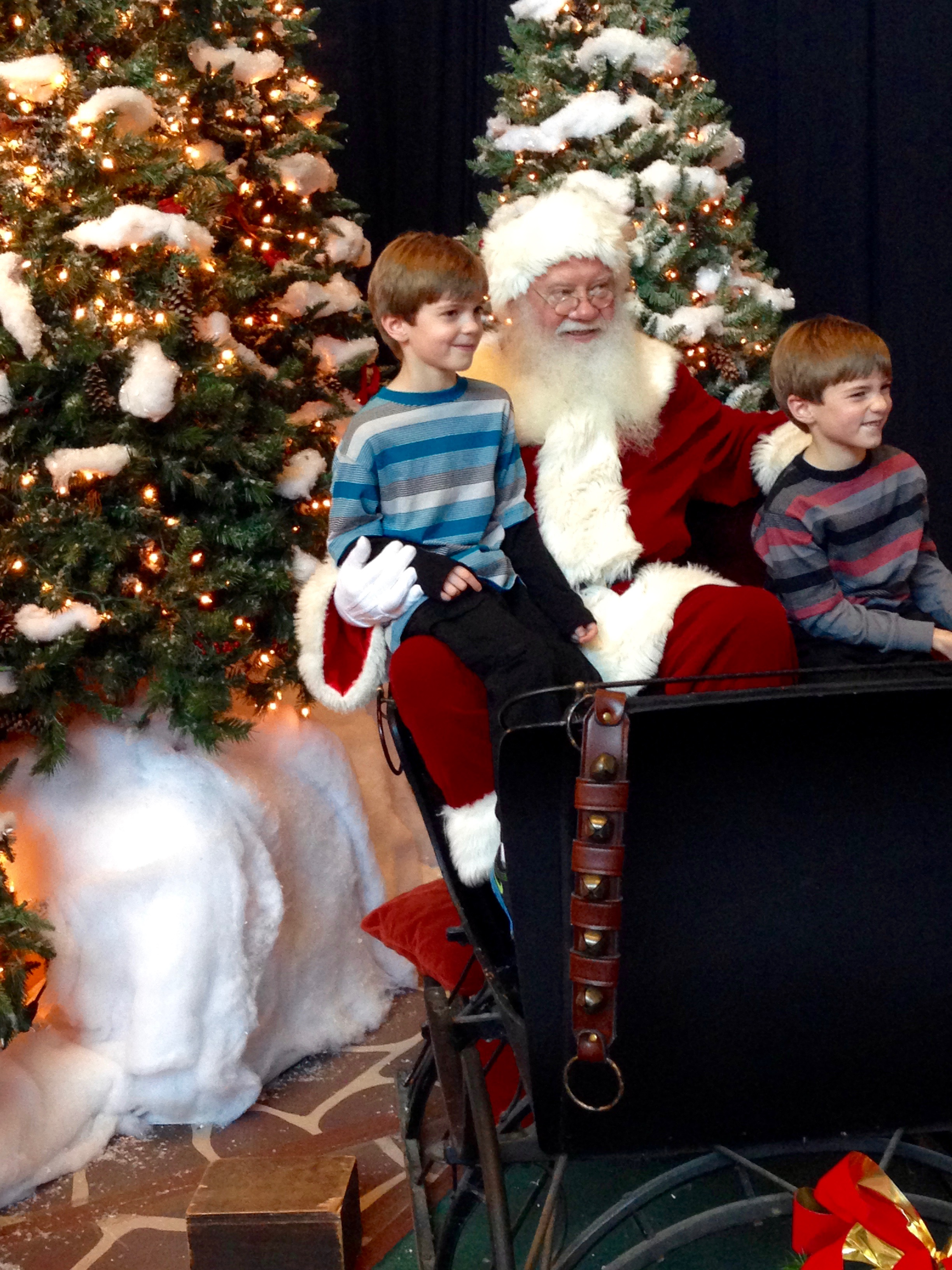 Santa Visit at the Chattanooga Hotel from Spinach Tiger