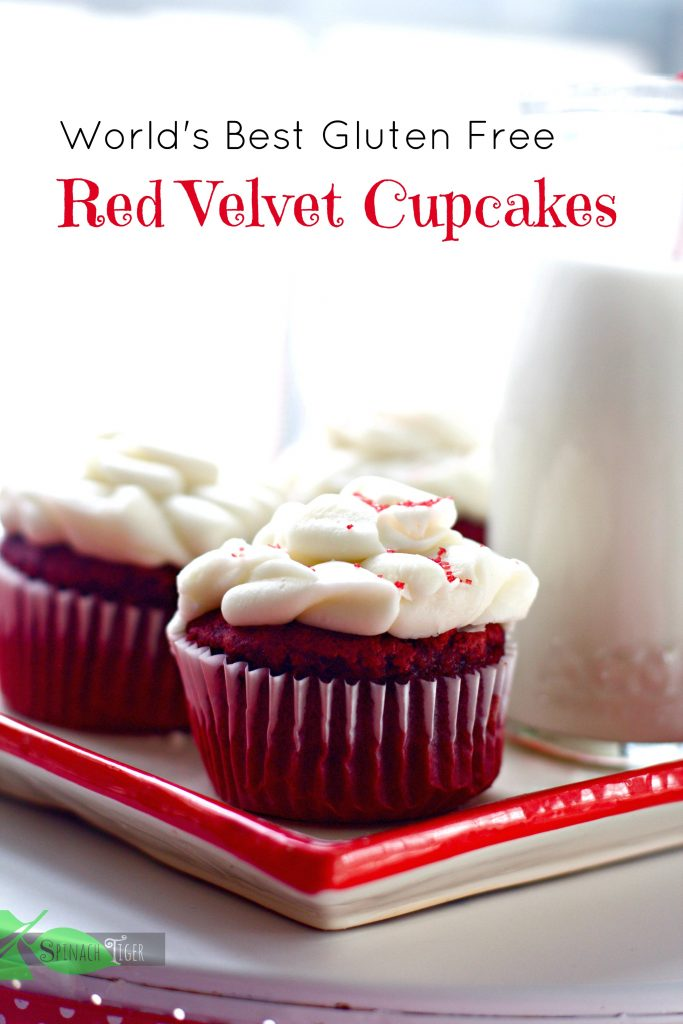 The Best Gluten Free Red Velvet Cupcakes from Spinach Tiger