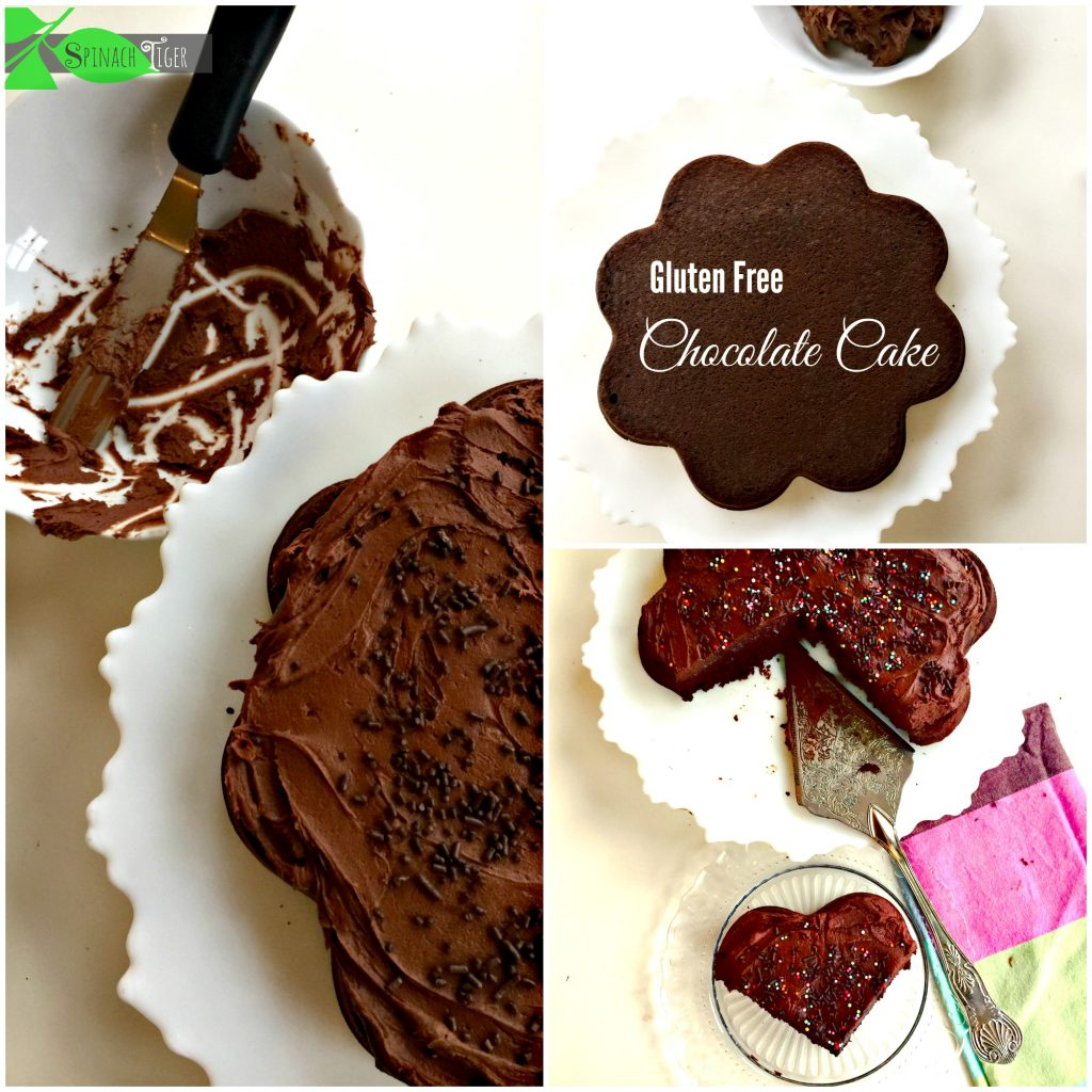 Moist Gluten Free Chocolate Fudge Cupcakes and Cake from Spinach TIger