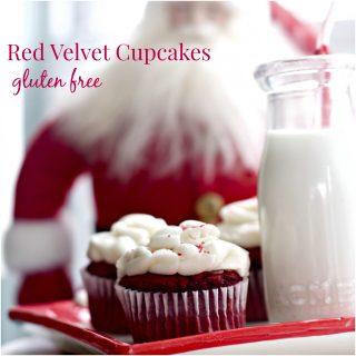 Gluten Free Red Velvet Cupcakes, Tiny Cake