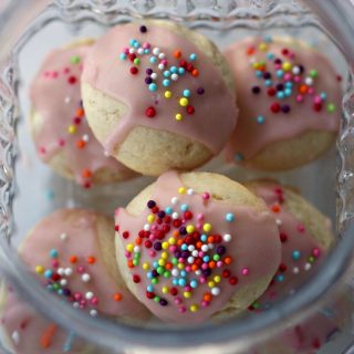 Gluten Free Ricotta Cookies, Pomegranate Glaze