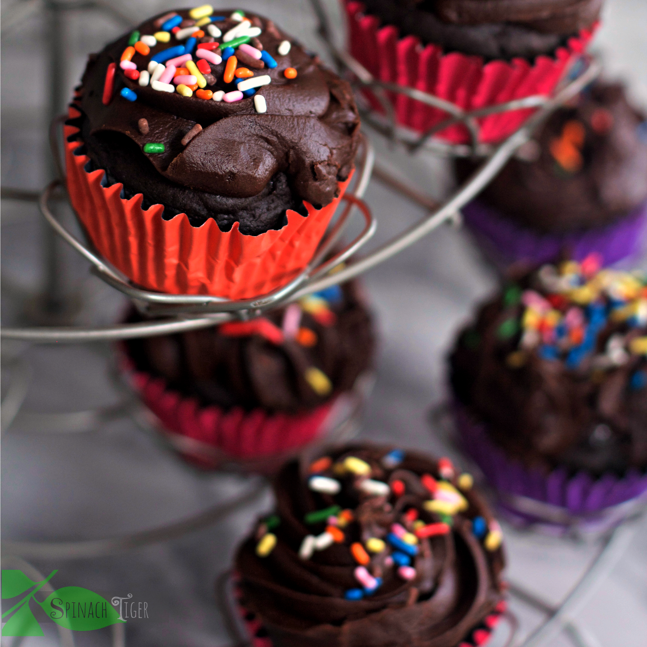Gluten Free Chocolate Cupcakes and Holiday Side Dishes from Spinach Tiger