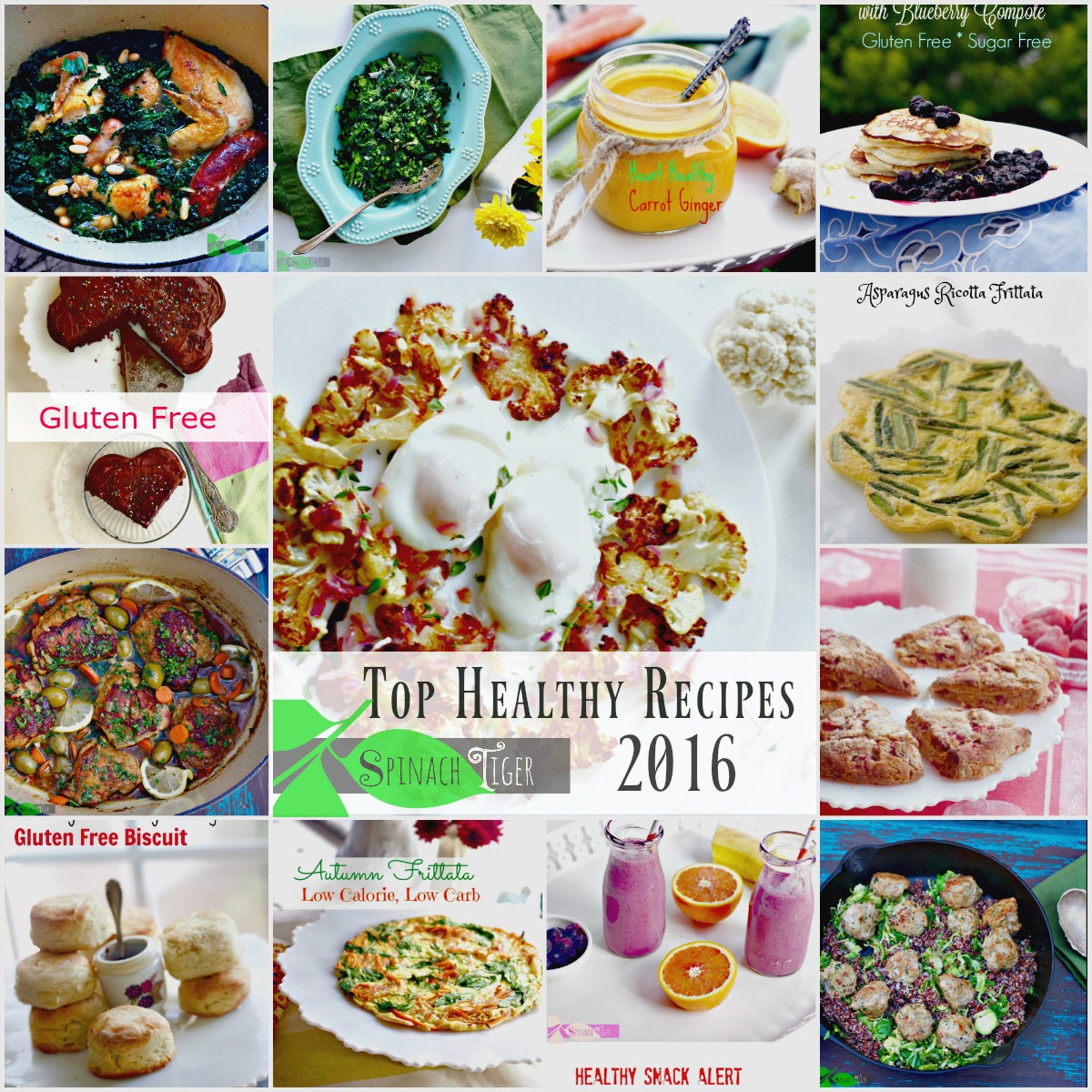 Easy Healthy Recipes of 2016 from Spinach Tiger