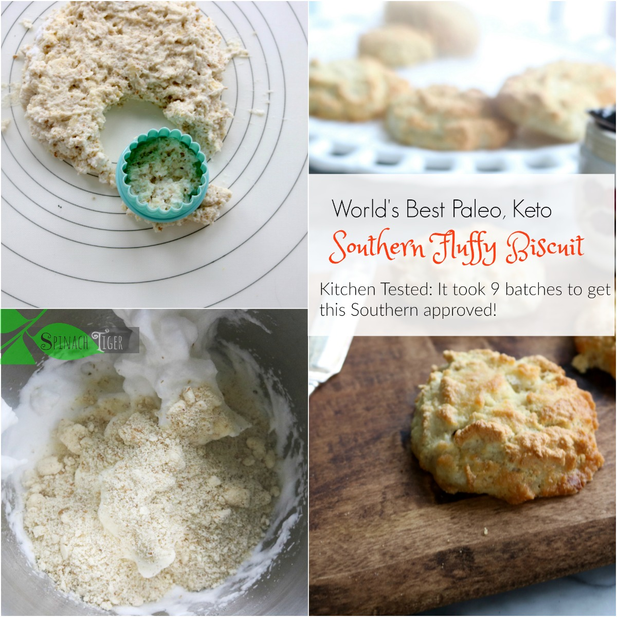 How to Make Almond Flour, Southern, Grain Free Biscuits from Spinach Tiger